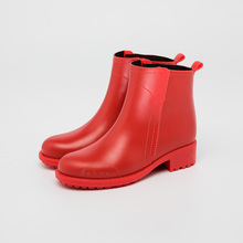 red matt women rain boots low cut wellies rain shoes new style comfortable girl boots