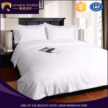 White satin 100% cotton fabric five star hotel bedding set