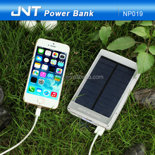 JNT Fashionable Rohs double USB ports 10000mah solar power bank with CE,ROHS ,FCC
