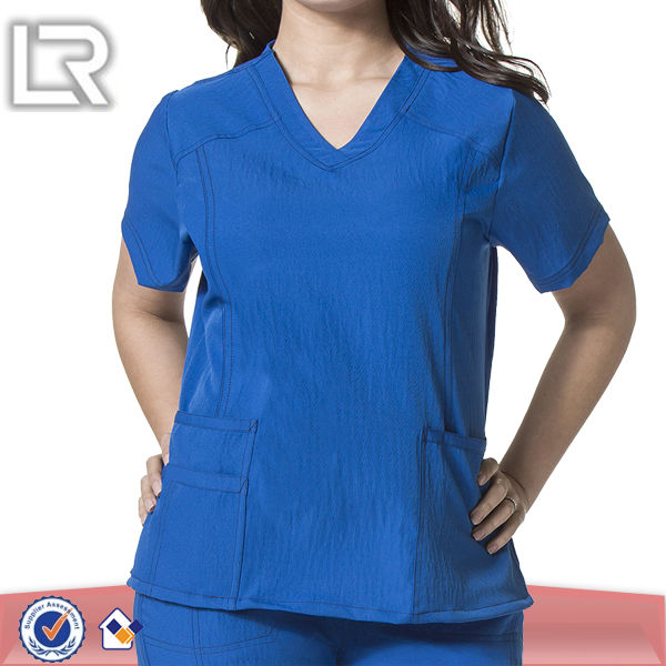 100% Polyester Hospital Designer Nursing Uniforms Scrubs