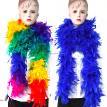 Wholesale Dyed Colourful Turkey Feather Boa Scarf