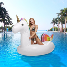 Unicorn Swimming Pool Float Inflatable Raft Holds Up to 400lbs Inflates and Deflates Fast Premium Quality Toy