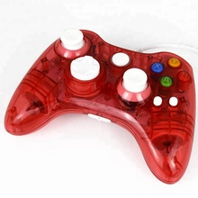 New Transparent Blue Led Light Wired Gamepad for Xbox 360 Game Console Controller