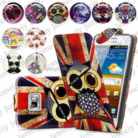 For Samsung Galaxy S2 I9100 Folio Print Flip Leather Case Phone Bag Back Cover Bags