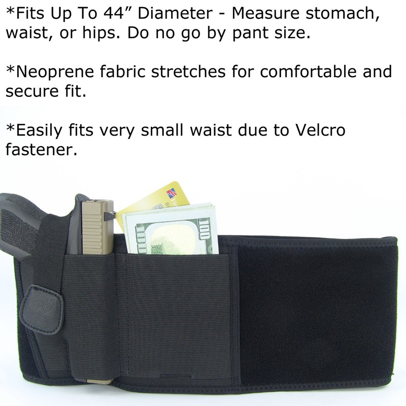 OEM soft neoprene belly band gun holster