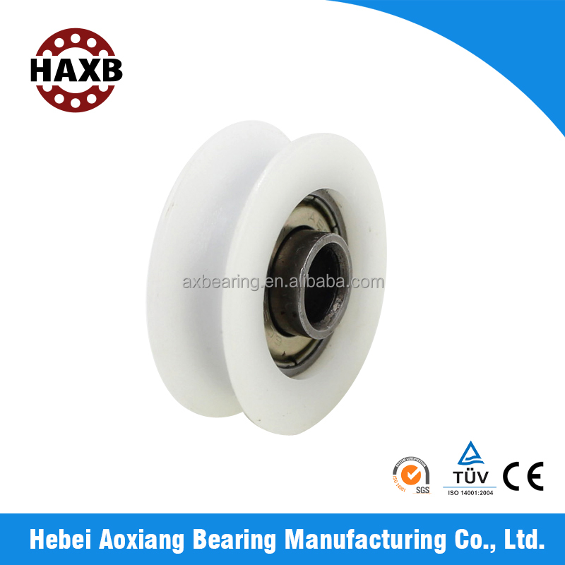 HAXB ball bearings diameter-16mm for doors and window, deep groove ball bearing with plastic groove