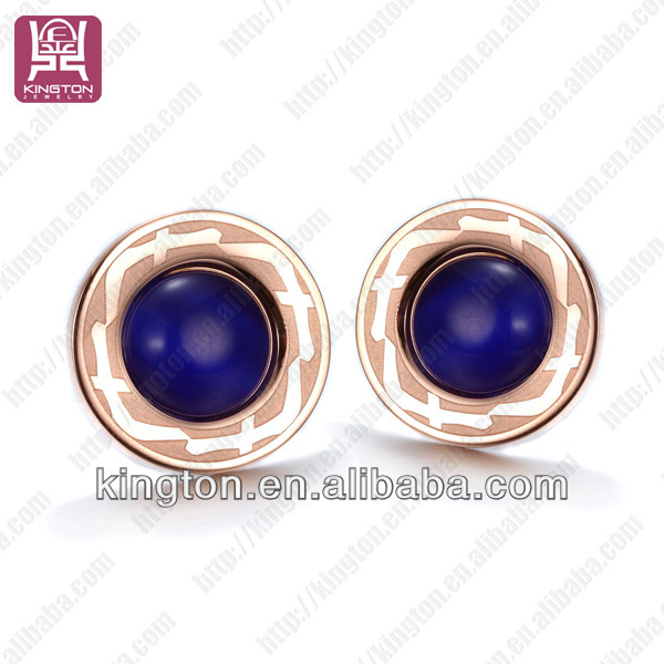 fancy earring designer royal hyacinth blue pierced earrings