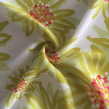100 Polyester yarn wholesale muslin fabric printing flowers for chiffon dress