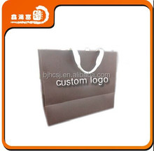 2015 new style custom logo printed packaging shopping paper bag