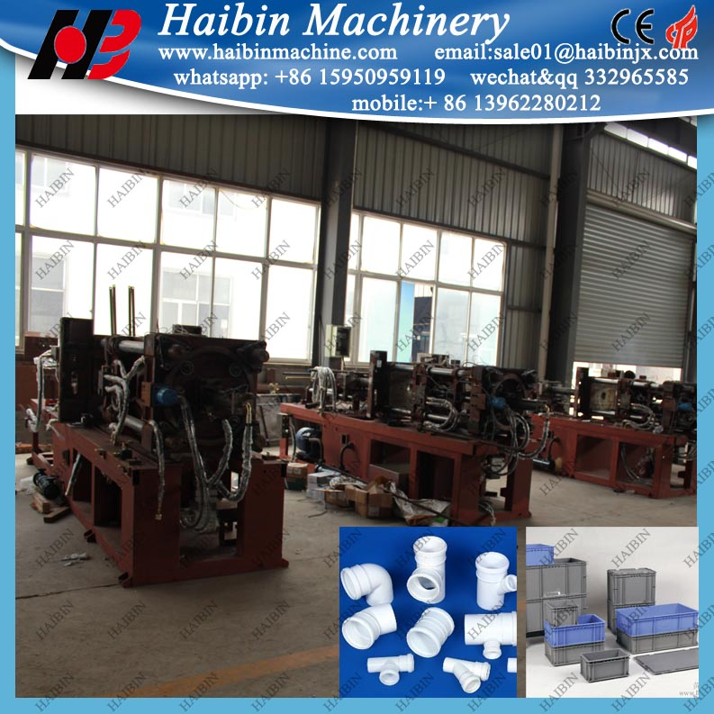 plastic fitting crate basket preform hdpe o ring injection moulding machine