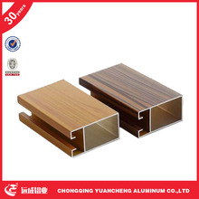 wood grain aluminum window and door profile aluminium profile furniture