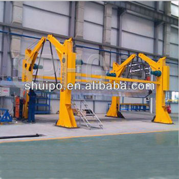 Turnover machine for semi trailer machine