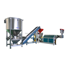 double stage pp pe waste plastic pelletizing line/two stage plastic recycling machine/2 stage pelletizing line