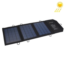 10.5W 2.1A Max 2 Output Ports Portable Folding Solar Panel Charger Bag for Samsung Mobile Phones