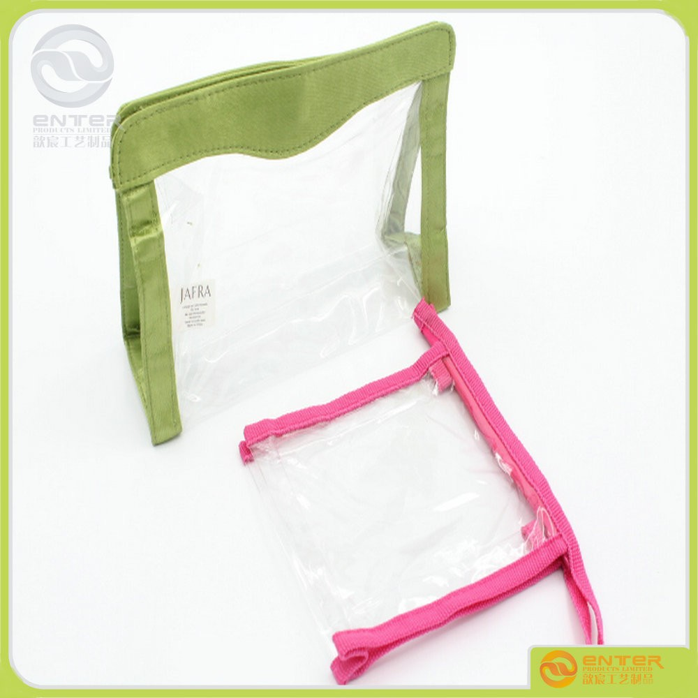 Clear Transparent Plastic PVC Travel Waterproof Cosmetic Make Up Toiletry Wash PVC Zipper Bag