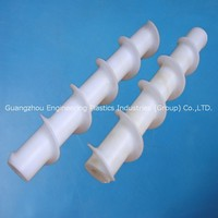 Customized engineering fitting UPE Tivar plastic screw pipe