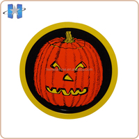 Wholesale holiday printed round halloween melamine plates