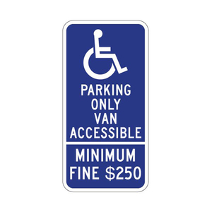 Engineer Grade Reflective Aluminum Handicapped Safty Parking Sign
