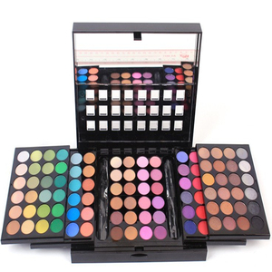 96 color 3 layer makeup kit multi colored eyeshadow palette with mirror