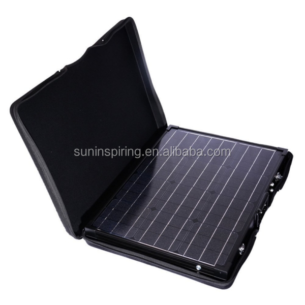 Portable Foldable Suitcase Solar Panel Kit 100w