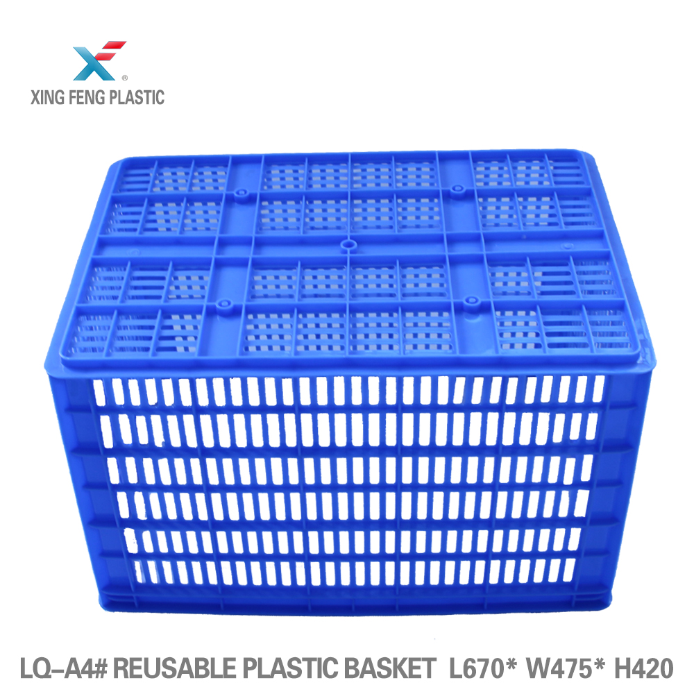 Promotional plastic crates for bread