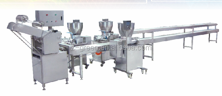 Samosa making machine and production line with manual package