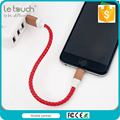 High-end Premium Leather braided usb mfi cable for iPhone