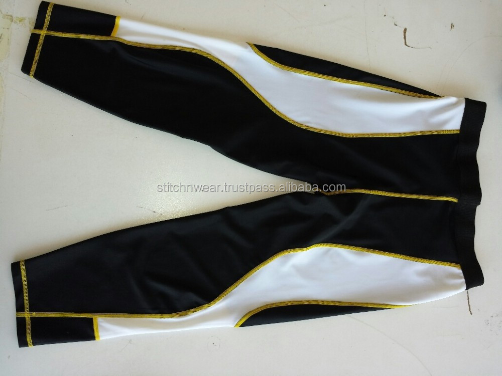 Spandex polyester compression wear for weight loss
