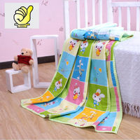New 2014 Baby Products 100% cotton Baby Kids Blanket Swaddle Bath towel with cartoon picture--Green color
