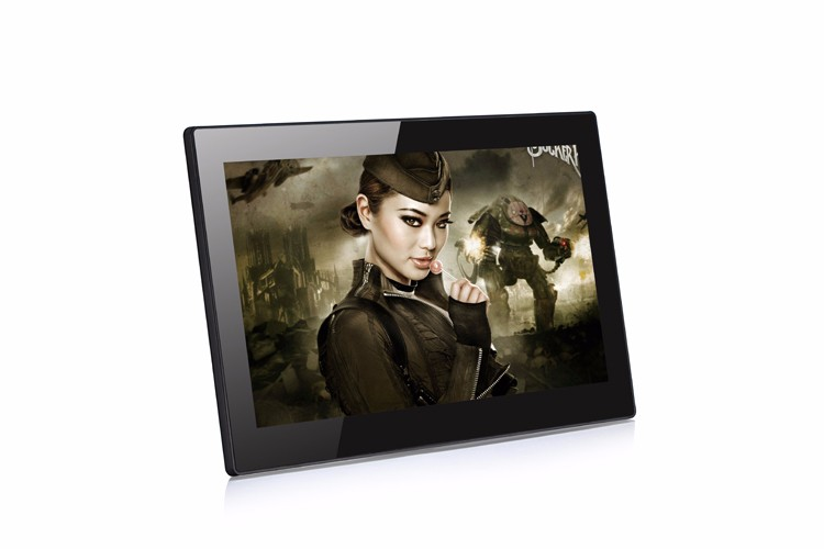 Support SD 14 inch Network lcd bus video touch advertising player