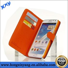 Fancy Credit Card Slot Wallet Flip Leather Mobile Phone Case For Samsung Galaxy Note 2.