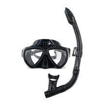 Professional Anti-fog Tempered glass black gopro diving mask