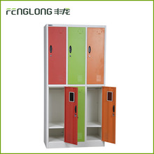 Customized color steel furniture wholesale 6 door metal air locker cabinet prices for school furniture