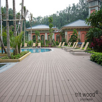 hot sale outdoor wood plastic composite price on sale/ made in Japan/ 145mm*30mm Brown Trit wood wpc swimming pool