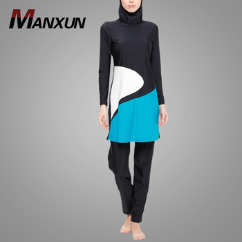 Hot Sell Textile Fabric Lycra Spandex Swimwear Fully Closed Islamic Women Swimsuit
