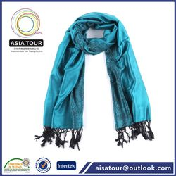 Six colors 100% cashmere wool scarf ,winter wear wool shawl