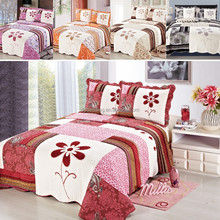 FACTORY - 2018 New Bedspread Fashion Floral Patchwork Quilts Soft Velvet Bed Cover