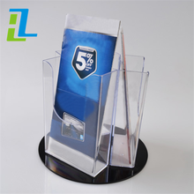 2016 Clear acrylic wall mounted small pockets business card display holder ,5-tier gift card display racks wholesale
