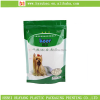 food grade plastic zipper pouch pet food packaging, stand up pet food bag