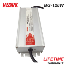 WODE 10A 12V 120W Waterproof Metal Aluminium Led Driver Power Supply