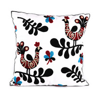 For home and hotel good quality Canvas &100%Polyester latest embroidery design cushion cover