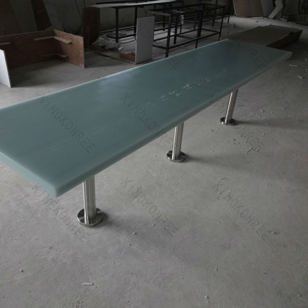 custom size artificial marble long narrow bar tables