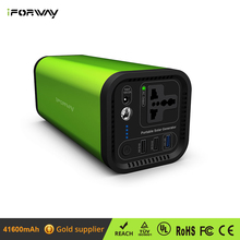 iForway 120W Portable UPS Power Supply Inverter Battery With AC Outlet Mini Solar Power Station