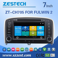 HD 800*480 touch screen 7 inch car sat navi headuint for Chery fulwin 2 car dvd gps car navigation system with 3G Wifi MP3 BT