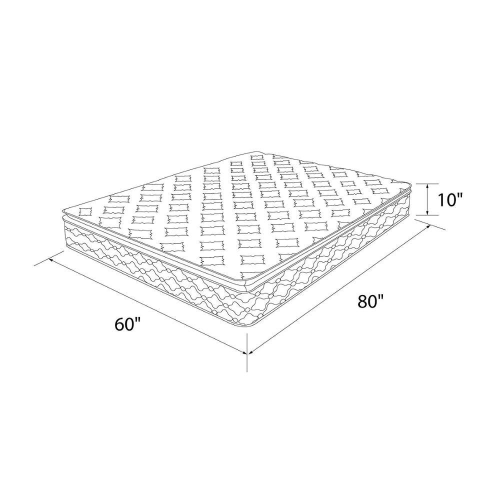 2019 Amazon hot sale Bamboo fabric pillow top gel infused memory foam pocket spring hybrid mattress - Jozy Mattress | Jozy.net