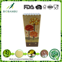 Plant Fiber eco friendly garden flower pots/planter bamboo