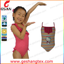 Thin strap custom children swimsuit models