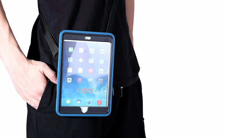High Quality Design 360 Degree Rotating shoulder strap case for ipad pro