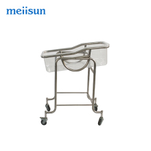 Popular factory multifunction stainless steel baby crib cot cradle bed