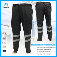 Multi Pocket Industial Work Pants Reflective